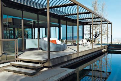 murren residence indoor outdoor lounge pool