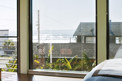 window, beach, view, bed