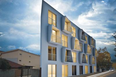 housing project, Slovakia, windows