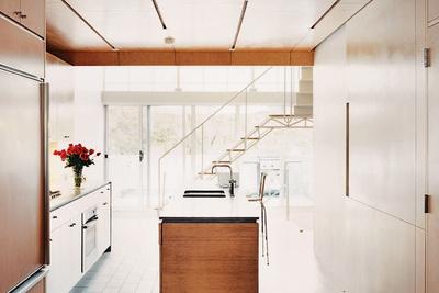 light filled wood kitchen