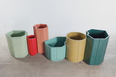 Landscape India Mahdavi vases rectangle