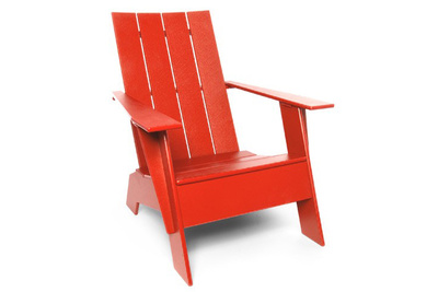 loll red adirondack chair
