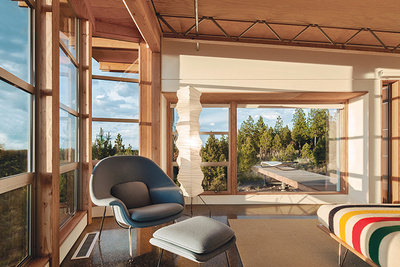 oregon prefab bedroom light filled overlooking deck rectangle