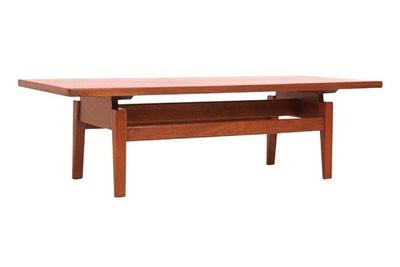 jens risom walnut coffee table chairish