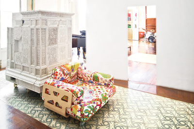 tagliabue house andalusian tile plaster walls peter and allison smithson armchair josef frank textile