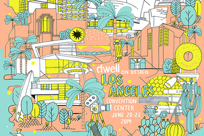 exclusive illustration of los angeles for dwell on design