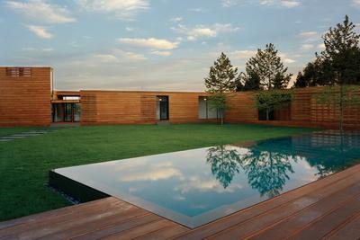 full house mahogany planks pool deck