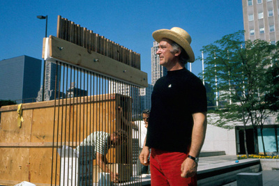Harry Bertoia with an artistic project