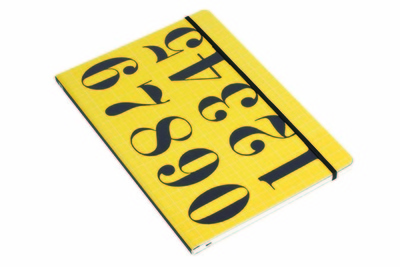 Eames bright yellow numbers notebook