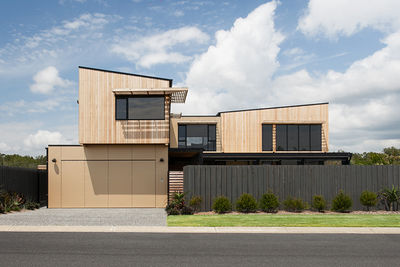 View of Byron Bay house from the street.