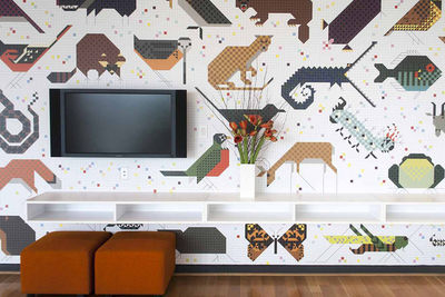 Charley Harper wallpaper by Designtex