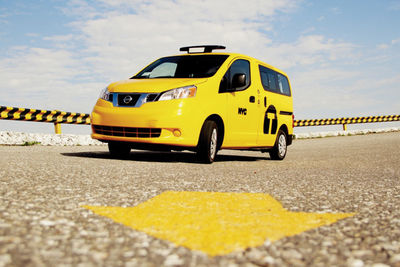New York's newest taxi cab color.
