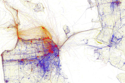 san francisco locals and tourists map