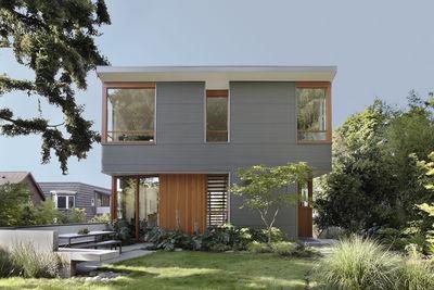 seattle exterior corrugated metal douglas fir