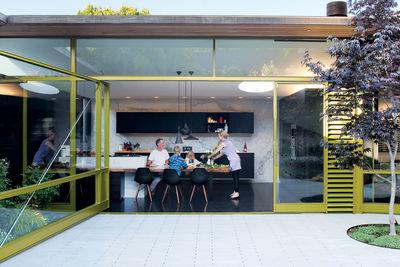 deam residence exterior dining portrait