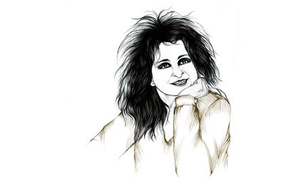 odile decq french architect designer portrait illustration