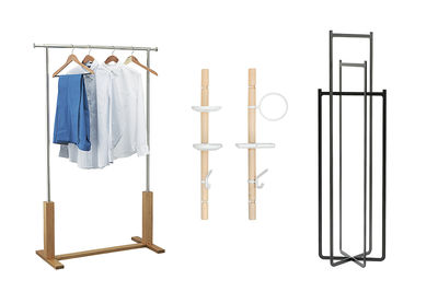 Garment rack selections in Dwell buyer's guide special issue