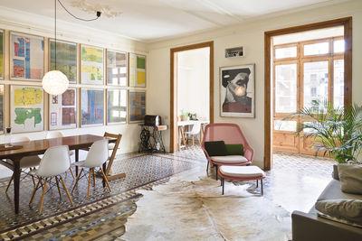 barcelona flat living room