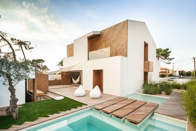 silver wood house exterior stucco wood