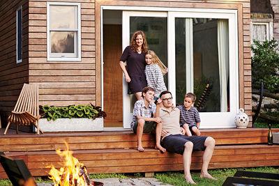 family affair backyard addition portrait