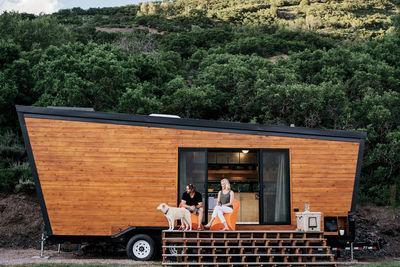 going mobile woody the trailer cedar exterior