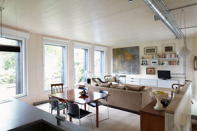 passive house hackney living room