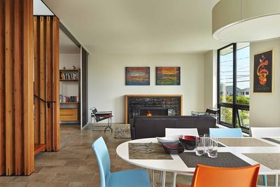Seattle living room with Marcel Breuer's Wassily chairs