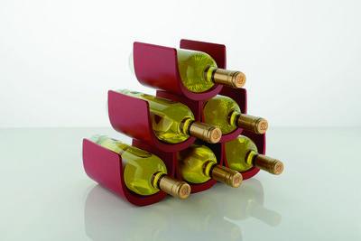 Modular wine rack for tabletop or floor