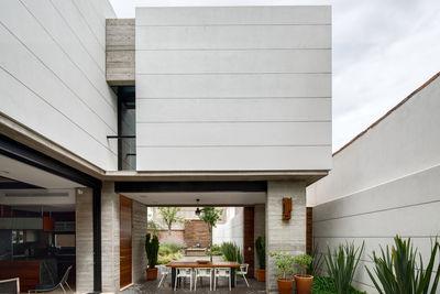 Segunda Calle open courtyard with custom table