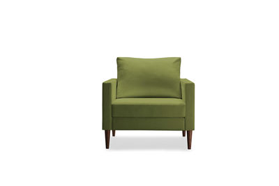 Campaign furniture green armchair