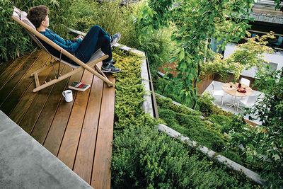 modern landscaping terrace easy chair ipe deck