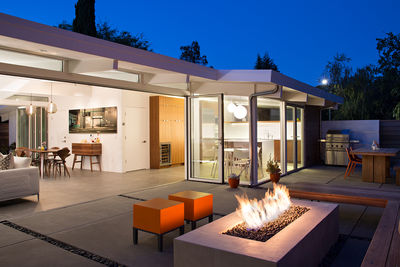 Palo Alto Eichler Renovation Outdoor Living Space