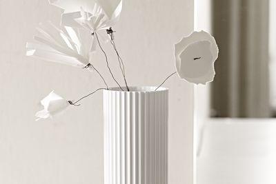 Sophisticated pleated porcelain vase