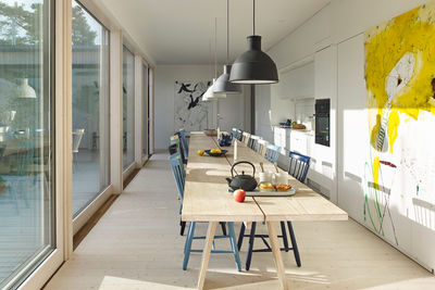 natural instinct swedish family home kitchen table unfold pendants muuto lilla aland chairs stolab