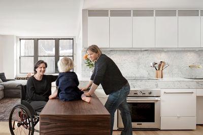 Mondern Boston family kitchen renovation that's wheelchair accessible