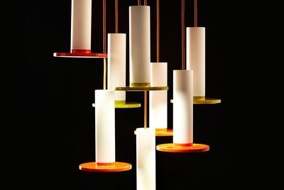 Dimmable LED pendant light with color accent