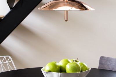 Copper-plated pendant light