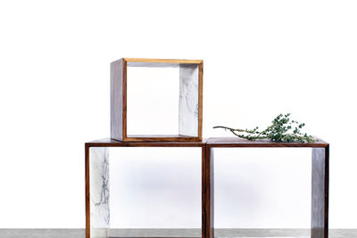 Storage box with marble inlay