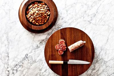 Multi-function serving board and cutting board