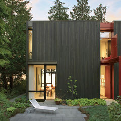 steel facade home Seattle