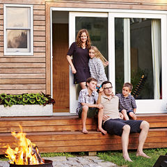 family affair backyard addition portrait