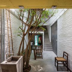 Outdoor dining area at a Saigon home.