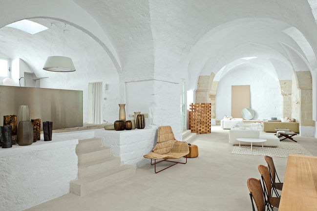 Modern living room with furniture designed by Ludovica + Roberto Palomba
