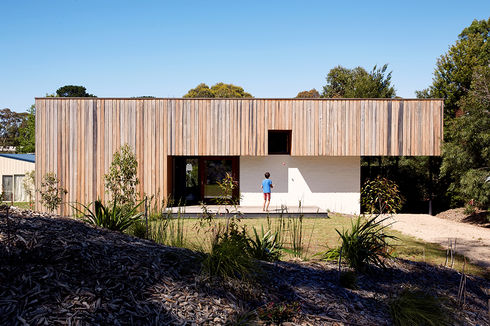 simpler times australian vacation home vertical wood cladding