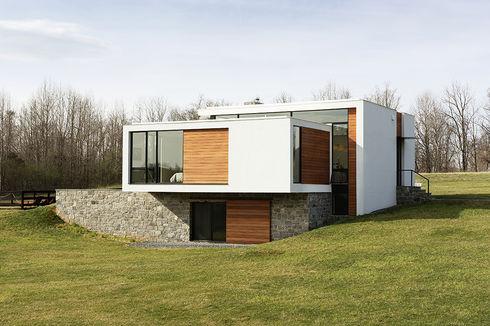 sweet virginia vacation smart home facade granite stucco mahogany siding 0