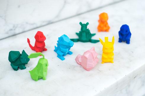 3D printed Pokemon toys.