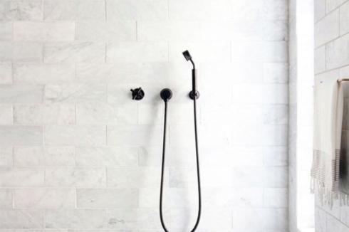 Bathroom with matte fixtures