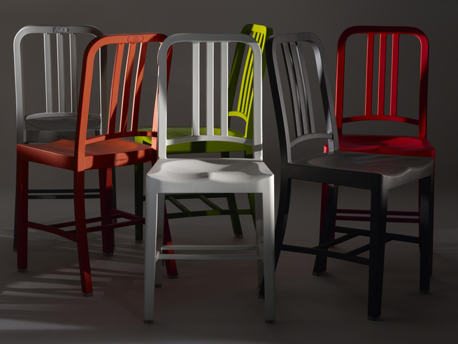 111 navy chairs silver red
