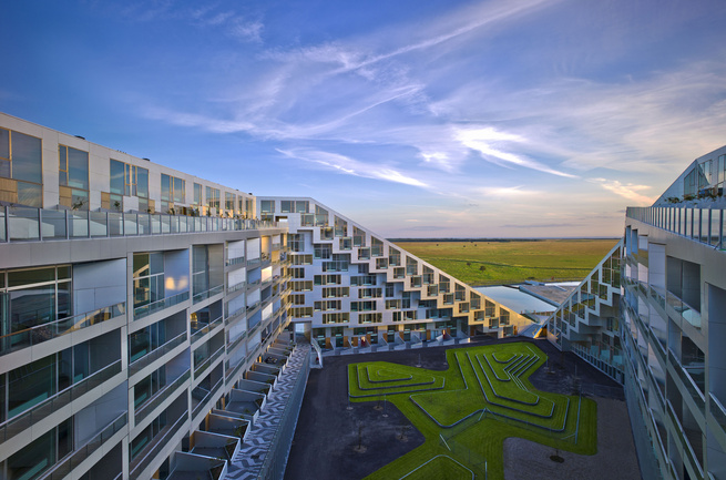 8 House by Bjarke Ingels Group BIG interior courtyard