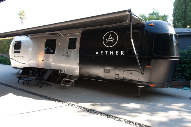 The AetherStream, as the company calls it, is presently in Los Angeles, though it will be setting out in early November for New York. Instead of a pop-up shop, the idea is to have a kind of mobile shop, one that functions just as well on the beach as in a